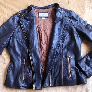 Michael Kors Genuine Leather Black Moto Jacket
